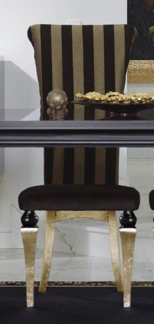 black and gold dining chairs magnus upholstered roll back black and gold leaf dining chair