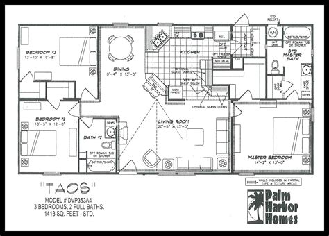 1996 palm harbor mobile home floor plan meze