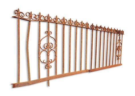wrought iron fence lighting short wrought iron fence olde good things
