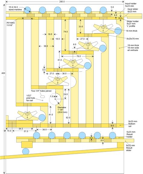 blueprints free plans for the marble adding machine