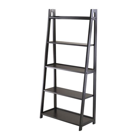Winsome Wood 20513 Adam 5 Tier A Frame Ladder Shelf Lowe A Frame Ladder Bookcase