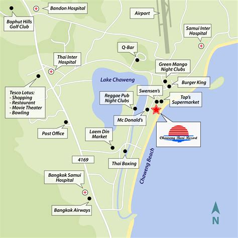 printable map koh samui how to get to chaweng buri resort koh samui island spa