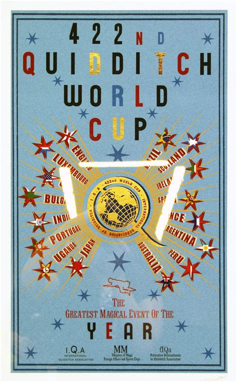 quidditch world cup blue poster minalima at leakycon kavett