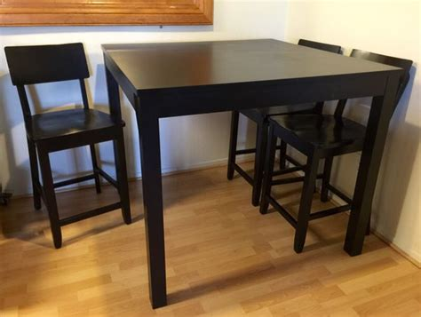 Bjursta Bar Table Ikea Bjursta Bar Table 4 Chairs 43 1 4x43 1 4 Square Furniture In San Bruno Ca
