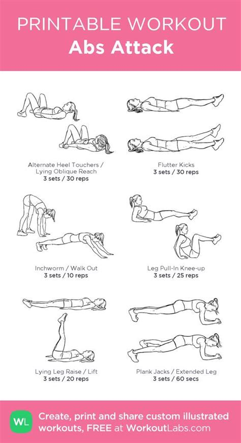 abs attack my visual workout created at workoutlabs click through to customize and
