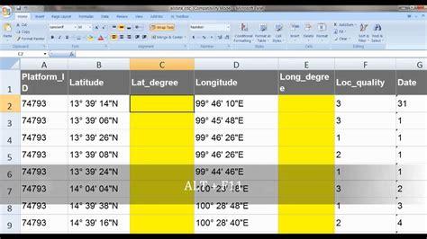 gps format converter excel excel convert decimal string to number number base