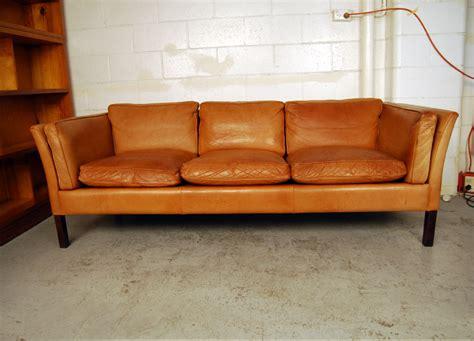 danish vintage sofa sold danish three seat leather sofa 31d090 danish