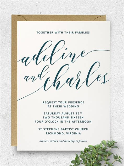 69 diy calligraphy wedding invitations diy wedding invitations a collection of ideas to try