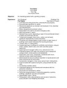 sle resume for firefighter position resume sles