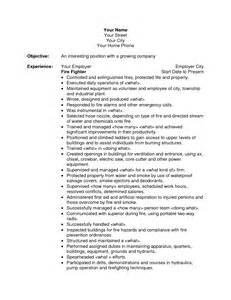 Firefighter Resume Examples Firefighter Resume Anuvrat Info