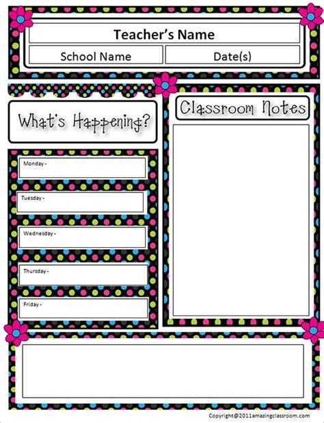 classroom newsletter templates printable word