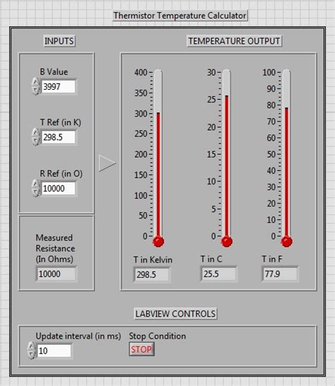 resistor calculator using labview resistor calculator using labview 28 images how to measure temperature with a thermistor
