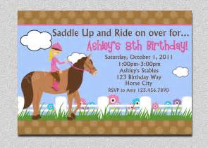 horseback riding birthday invitation western horse birthday
