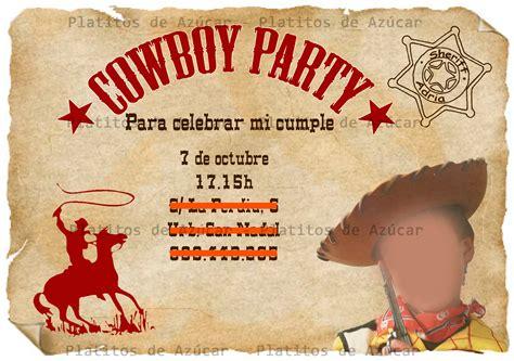imagenes de tarjetas vaqueras tarjetas de invitaci 243 n de cumplea 241 os vaquero imagui