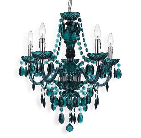 Chandelier Swag Blue Green Global Bazaar Bohemian 5 Light Beaded Swag Chandelier Kathy Kuo Home