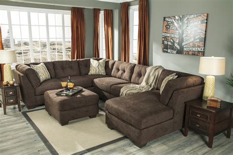ashley chocolate sectional liberty lagana furniture in meriden ct the quot delta city