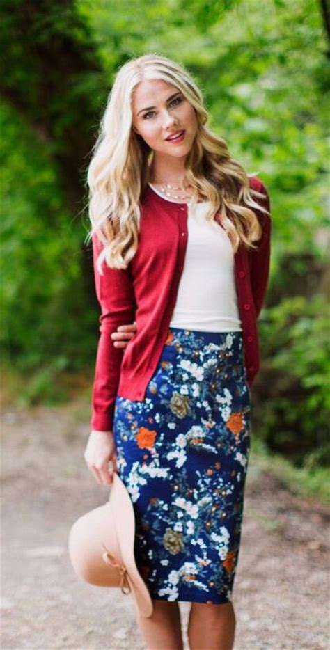 rust floral pencil skirt skirts fashion tips and navy skirt