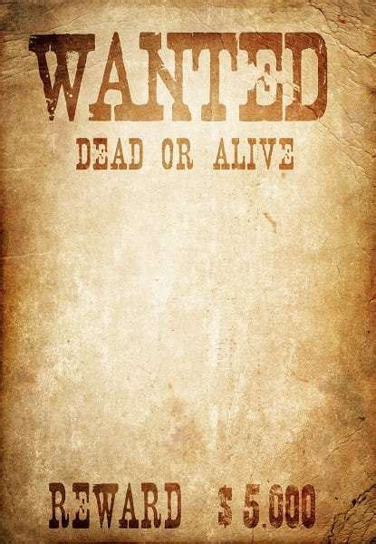 6 Wanted Poster Templates Word Excel Templates Wanted Poster Template Microsoft Word