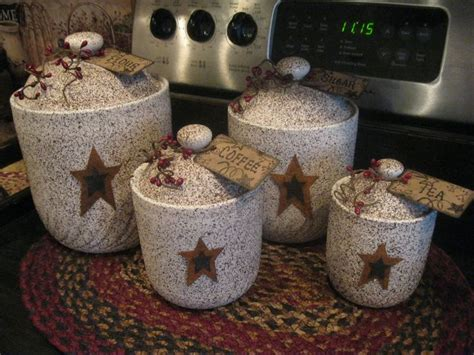 primitive kitchen canister sets 13 best images about primitive canister sets on pinterest