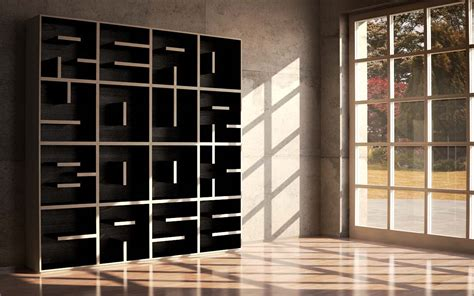 A Bookcase Shaped Like A A Modular Typographical Bookcase By Saporiti Colossal