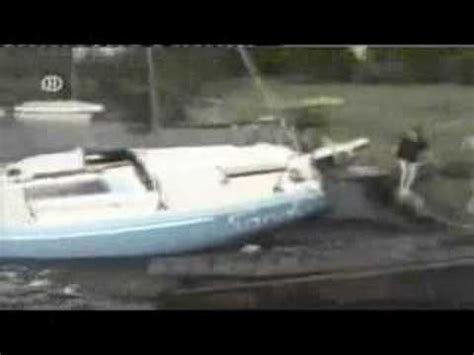 falling out of boat funny people falling off boats funny but painfull youtube