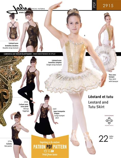 jalie 2915 stretch tutu leotard skirt pdf pattern