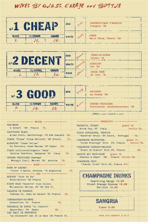 layout menu bar 15 best images about wine menu on pinterest mansions