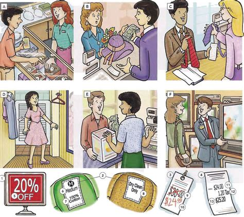 shopping in stores and shops vocabulary pdf l