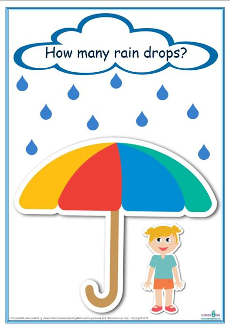 printable numeracy games counting raindrops printable maths games and activities