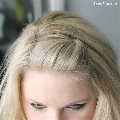 how to pull hair back cute side bang pin back poof using just 1 bobby pin video