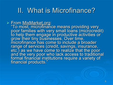 Formal Credit Institutions Microfinance 101 Session 1 Dr Stephen Conroy
