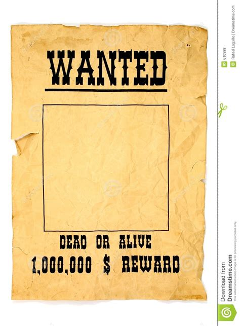 wanted poster stock photo image of searched alive