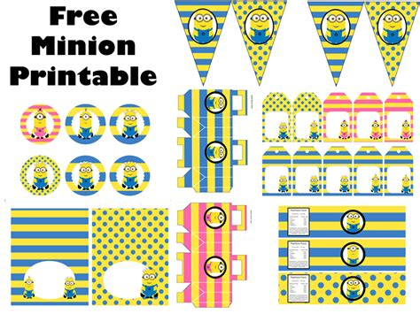 printable birthday decorations free free minion party printable birthday party ideas themes