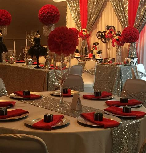 table decorations centerpieces hollywood quincea 241 era party ideas birthdays sweet 16