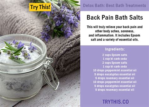 Detox Aches And Pains by Top 25 Detox Bath Recipes Tips