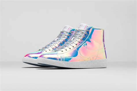 unknown basketball shoes nike blazer mid premium iridescent high top sneaker