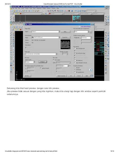 format dwg ke jpg cara merubah autocad dwg ke format pdf