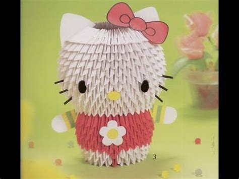 How To Make Hello With Paper - how to make 3d origami hello h豌盻嬾g d蘯ォn x蘯ソp hello