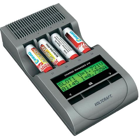 aa battery and charger voltcraft charge manager cm410 intelligent nizn battery