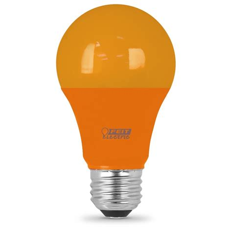 11 000 hour non dimmable orange led a19 feit electric