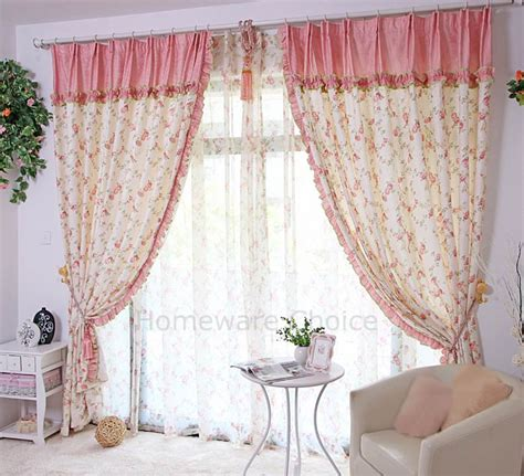 2 x eyelet curtain panels pink country curtains 140x230cm drop ectryb1 ebay