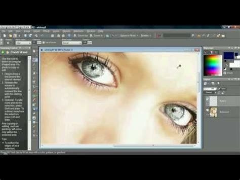 corel paint shop pro x2 tutorial how to change eye color