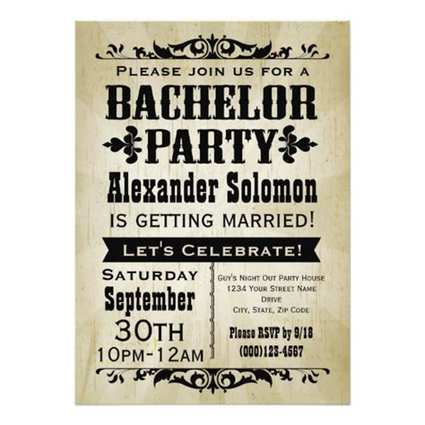 Bachelor Invitation Cards Templates by Vintage Country Bachelor Invitation Zazzle