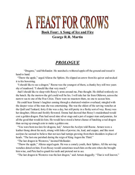 A Feast For Crows 1 a feast for crows book 4