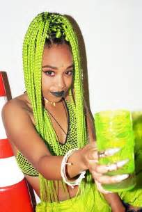 colorful box braids 15 with braid extensions styles who are not afraid