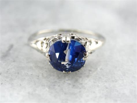 Sapphire Cat Eye Effect interesting cat s eye blue sapphire ring in white gold