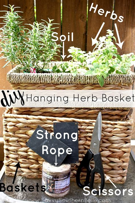 diy hanging herb garden savvy southern belle diy hanging herb garden