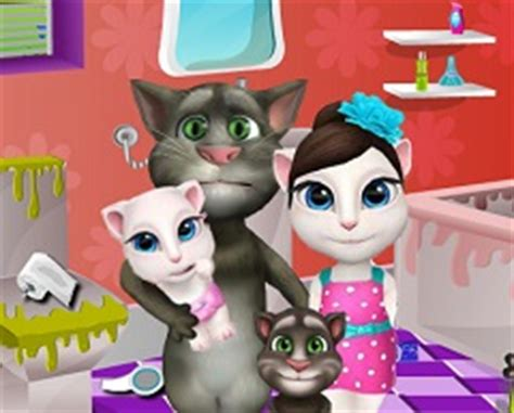 talking tom bathroom library clean up girl games