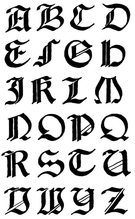 font design a to z gothic letters a z 2 jpg 600 215 974 calligraphy