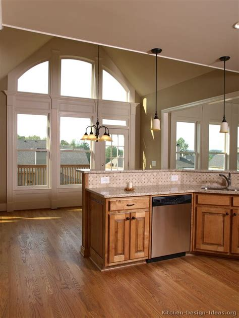 coordinating wood floor with wood cabinets pictures of kitchens traditional medium wood golden